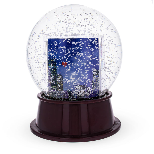 Houston, Texas Snow Water Globe Picture Frame 5.5 Inches by BestPysanky