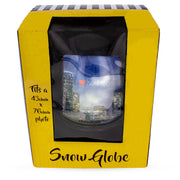 Houston Clear Plastic Snow Water Globe Picture Frame