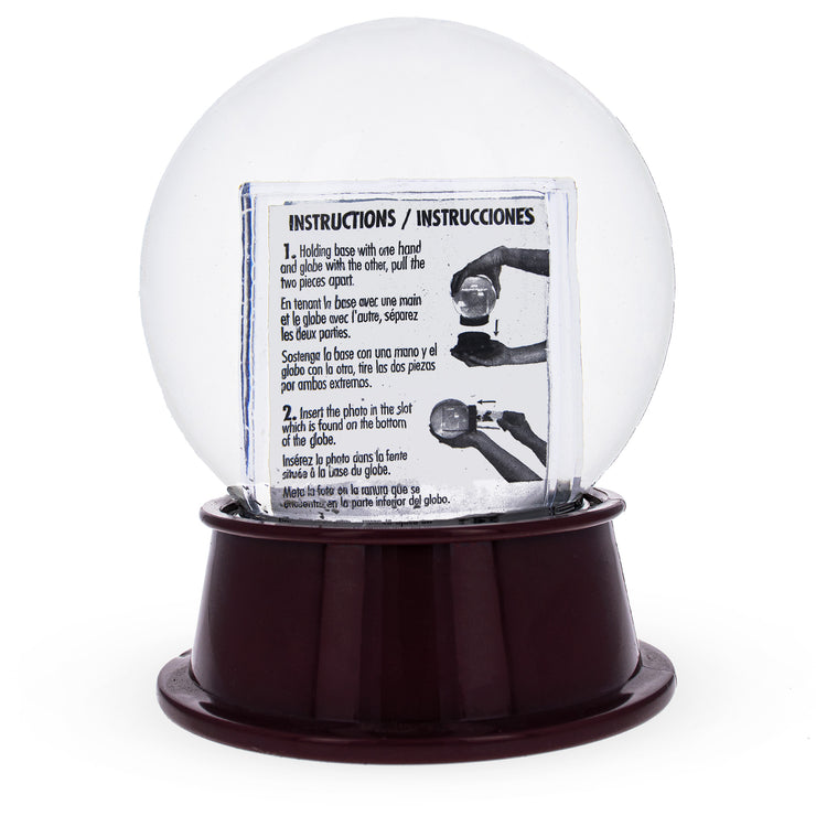 Buy Online Gift Shop Houston Clear Plastic Snow Water Globe Picture Frame