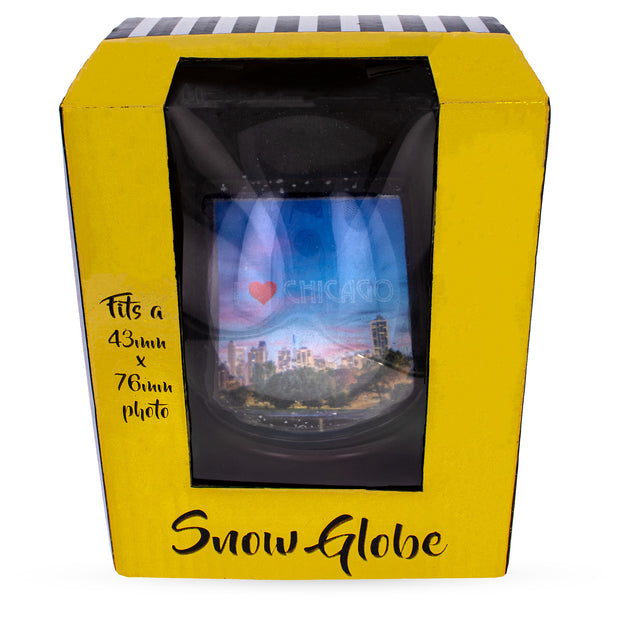 Chicago Snow Water Globe Picture Frame 5.5 Inches