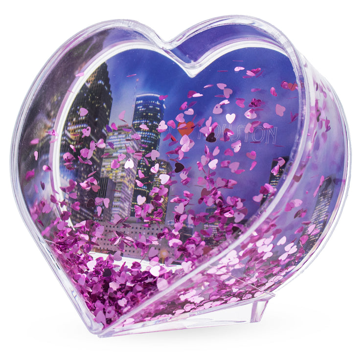 Buy Online Gift Shop Houston Heart Shaped Clear Acrylic Plastic Water Globe Picture Frame
