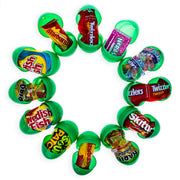 12 Green Plastic Easter Eggs with Premium Candy by BestPysanky