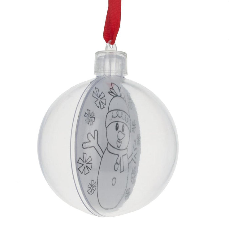 Buy Online Gift Shop Set of 6 Fillable Openable Plastic Christmas Ornaments DIY Craft 3 Inches