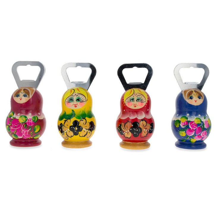 Red Russian Doll Bottle Opener 3.7 Inches