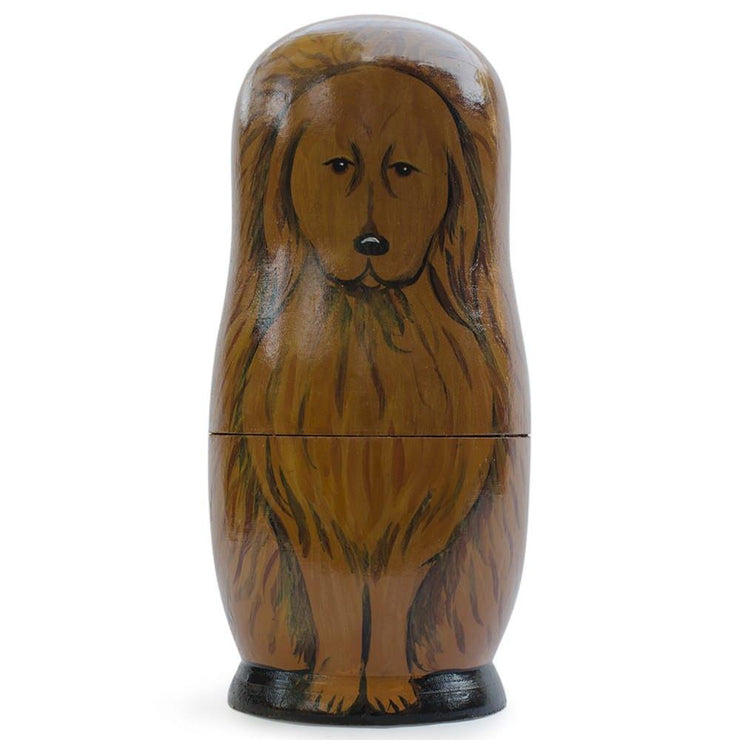 Buy Online Gift Shop 5 Dogs Wooden Russian Nesting Dolls Matryoshka 6.5 Inches