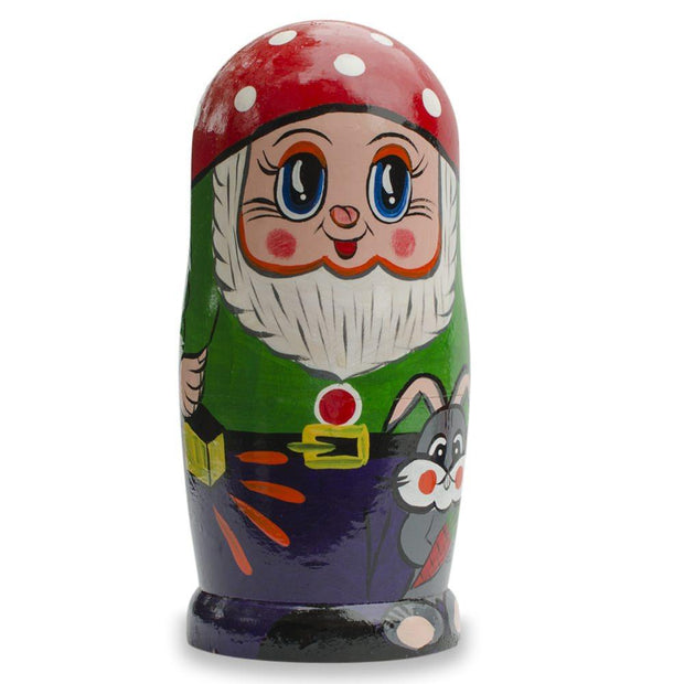 Set of 7 Gnomes Wooden Nesting Dolls 8 Inches