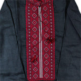 BestPysanky Gifts > Clothing > Men's Shirts - Ukrainian Hand Embroidered Men's Shirt L