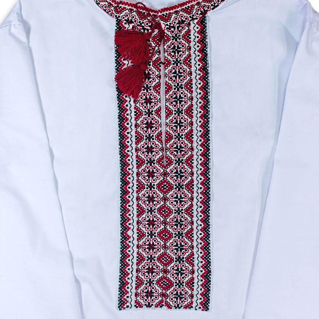 BestPysanky Gifts > Clothing > Men's Shirts - Ukrainian Hand Embroidered Men's Shirt Vyshyvanska- Size 40 (EU)
