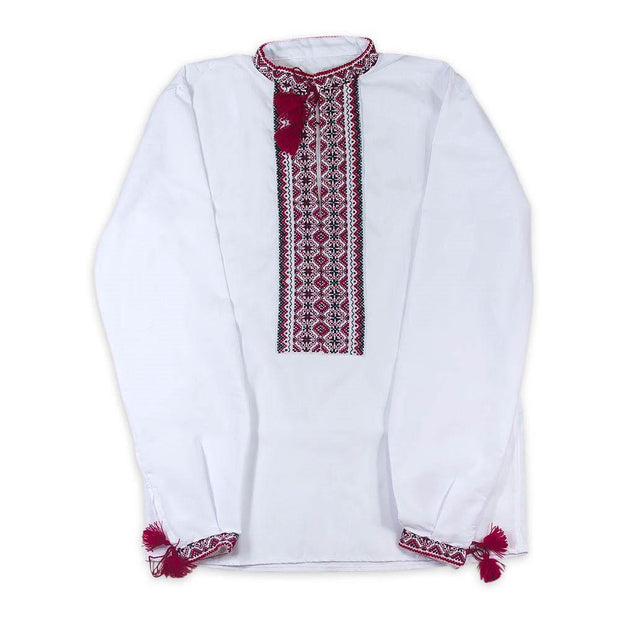 BestPysanky Gifts > Clothing > Men's Shirts - Ukrainian Hand Embroidered Men's Shirt Vyshyvanska- Size 43 (EU)