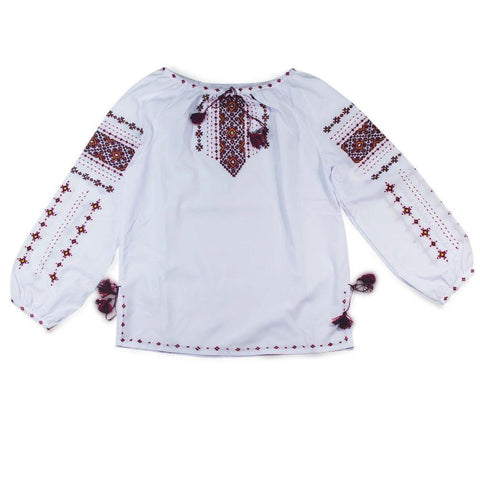 BestPysanky Gifts > Clothing > Women's Blouses - Ukrainian Hand Embroidered Girl's Blouse