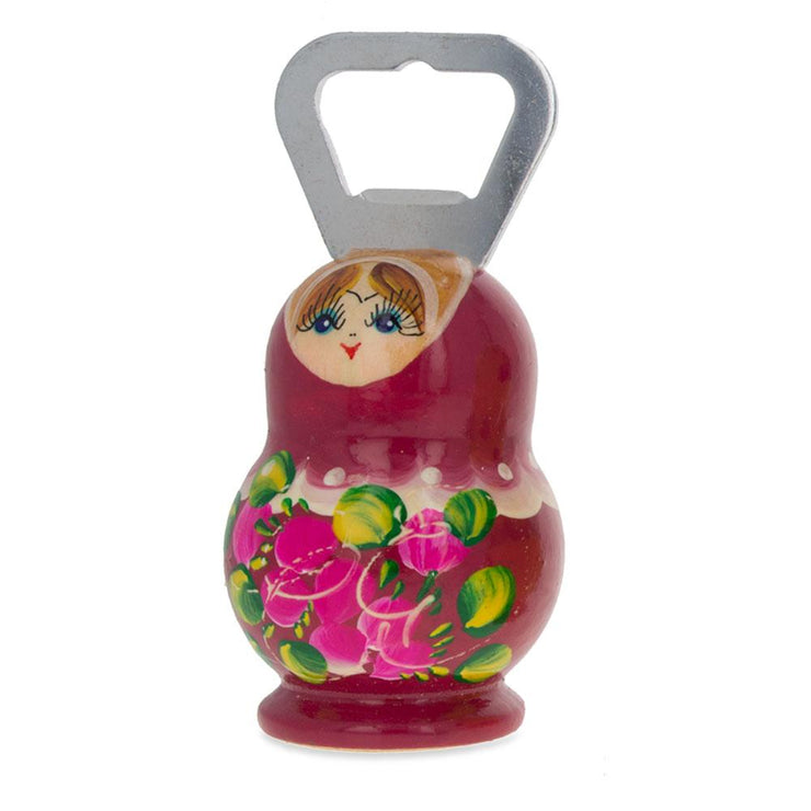 Pink Russian Doll Bottle Opener 3.7 Inches by BestPysanky
