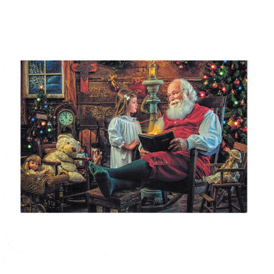 It's Christmas! Santa, Bible, and Child Greeting Card by BestPysanky