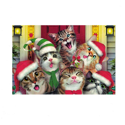 It's Christmas! Smiling Cats Greeting Card by BestPysanky
