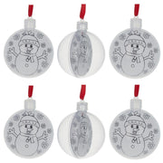 Set of 6 Fillable Openable Plastic Christmas Ornaments DIY Craft 3 Inches by BestPysanky