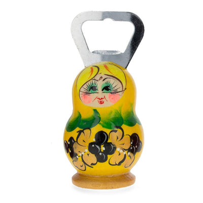 Yellow Russian Doll Bottle Opener 3.7 Inches by BestPysanky