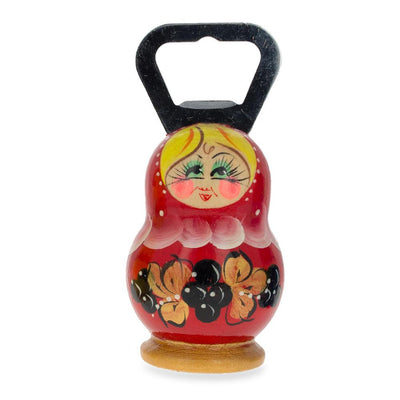 Red Russian Doll Bottle Opener 3.7 Inches by BestPysanky
