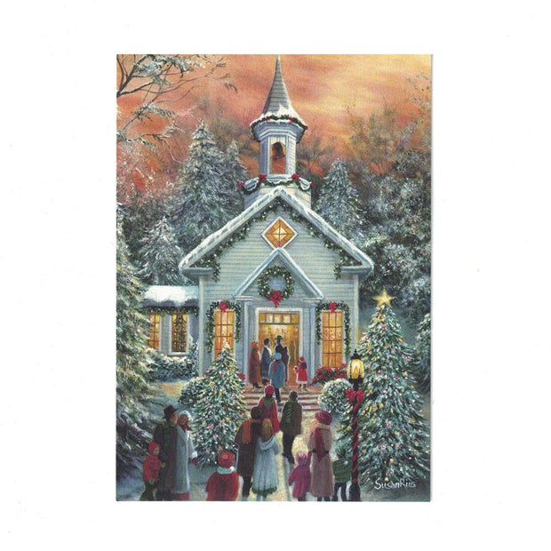 It's Christmas! Christmas Church Greeting Card by BestPysanky