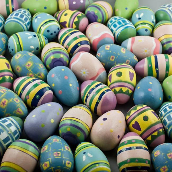 Geometric and Animals Design Wooden Egg | BestPysanky