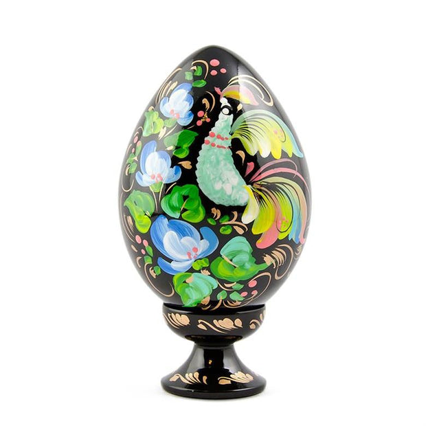 Long Tail Bird Hi-Gloss Wooden Easter Egg by BestPysanky