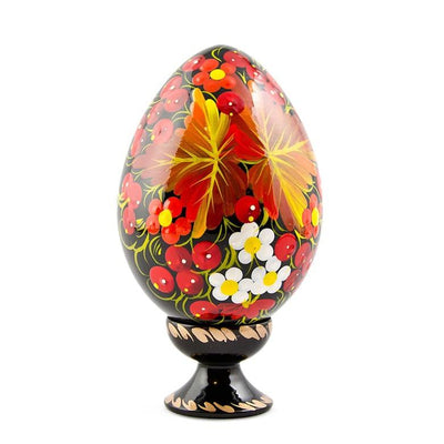 Autumn Leaves Ukrainian Hi-Gloss Wooden Easter Egg by BestPysanky