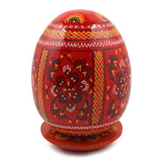 Red Wooden Goose Easter Egg