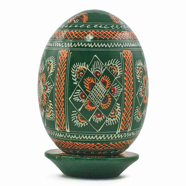 Large Wooden Pysanky Easter Eggs Goose Ukrainian And