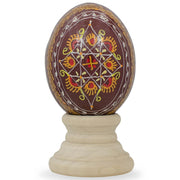 Brown Geometric Ukrainian Wooden Easter Egg | BestPysanky