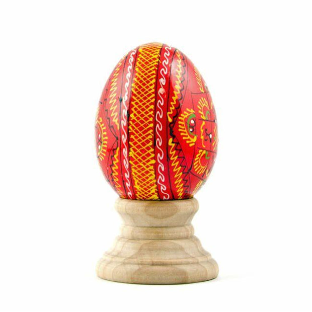 Red Ukrainian Wooden Easter Egg | BestPysanky