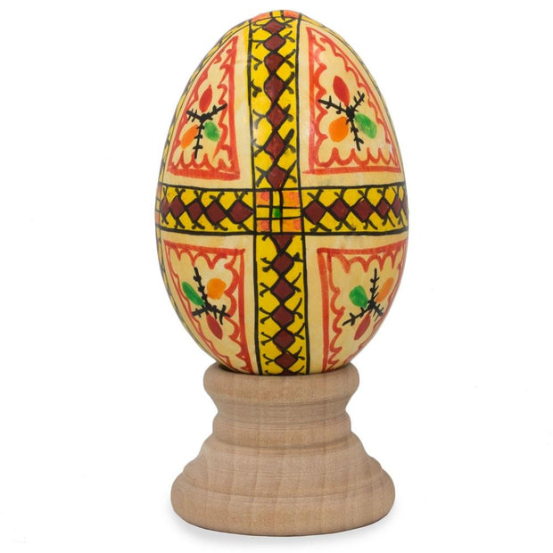 BestPysanky Easter Eggs > Wooden Eggs > Singles - Triangles Hand Painted Wooden Pysanky Easter Egg