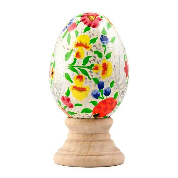 BestPysanky Easter Eggs > Wooden Eggs > Singles - Water Lily Hand Painted Wooden Easter Egg