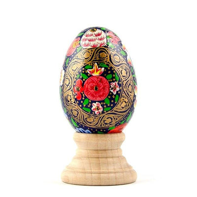 Nagaland Flowers Wooden Pysanky Easter Egg by BestPysanky