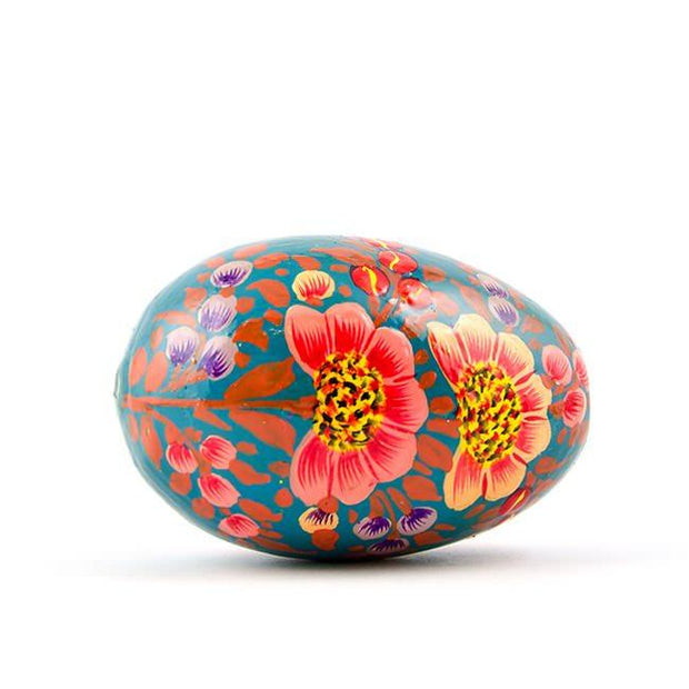 Azaleas Wooden Hand Painted Floral Easter Egg
