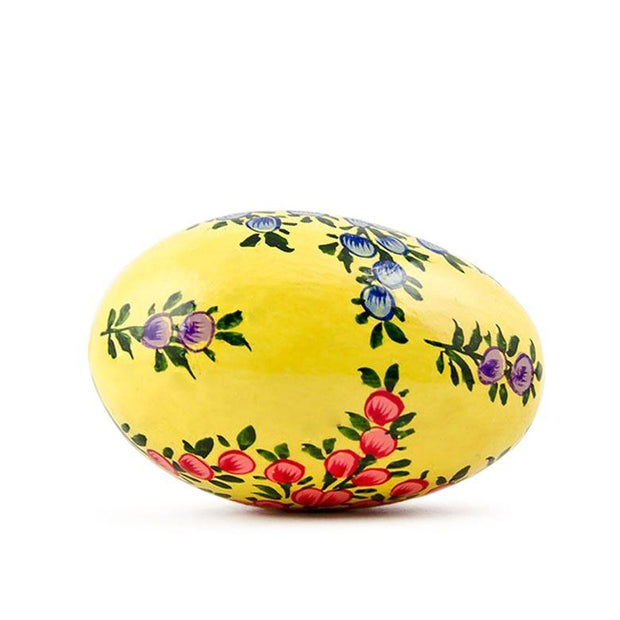 Buy Online Gift Shop Lotus Flowers on Pastel Yellow Wooden Easter Egg