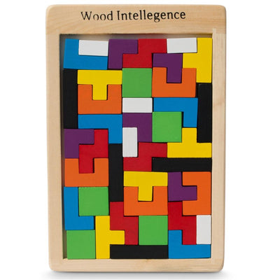 40 Pieces Wooden Blocks Puzzle by BestPysanky