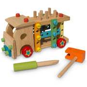 Set of Wooden Truck with Building Tools by BestPysanky