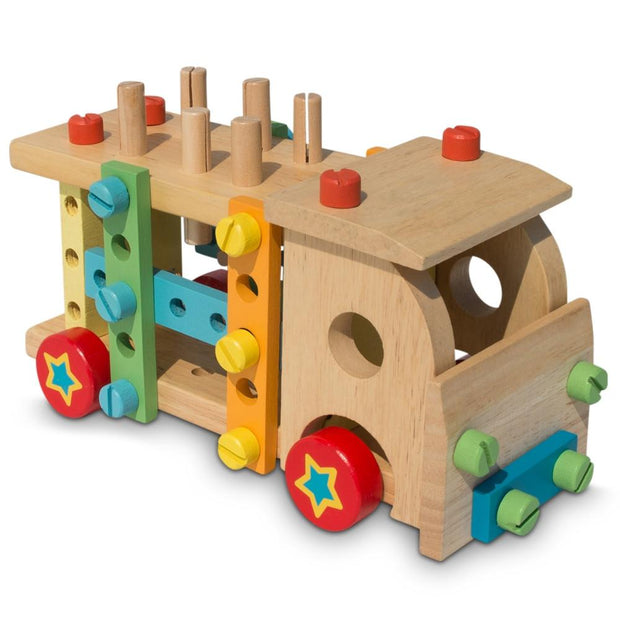Buy Online Gift Shop Set of Wooden Truck with Building Tools