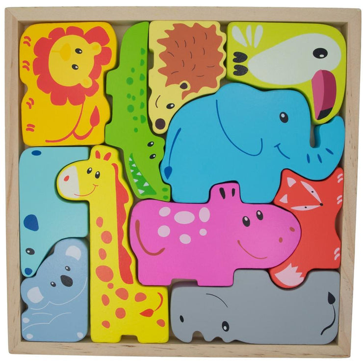 Animals Learning Wooden Blocks Puzzle by BestPysanky