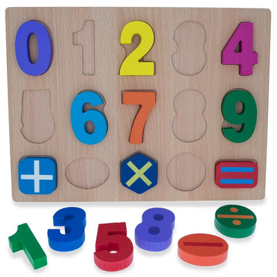 Numbers & Counting Learning Wooden Blocks Puzzle by BestPysanky