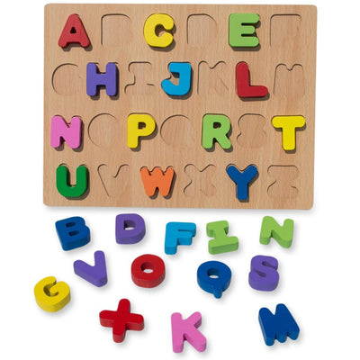 Multicolor Alphabet Learning Wooden Blocks Puzzle by BestPysanky