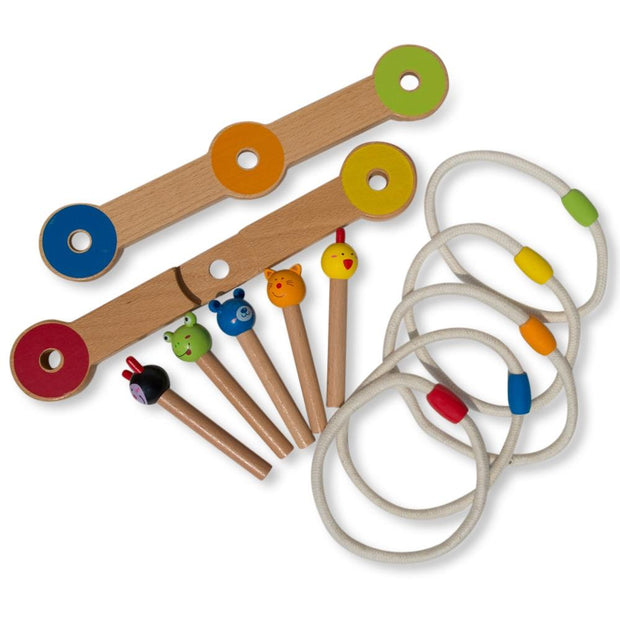 Buy Online Gift Shop 12 Pieces Wooden Ring Toss Game