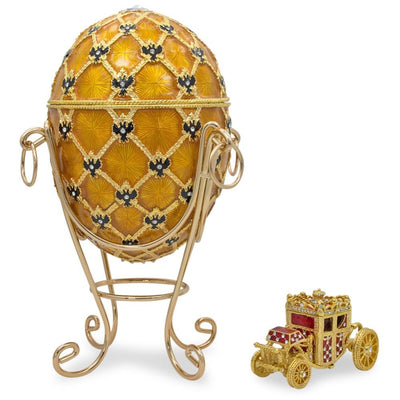1897 Coronation Royal Russian Egg 7 Inches by BestPysanky