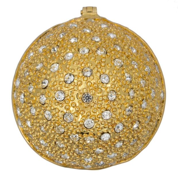 200 Crystals Gold Enamel Royal Inspired Russian Egg 2.5 Inches