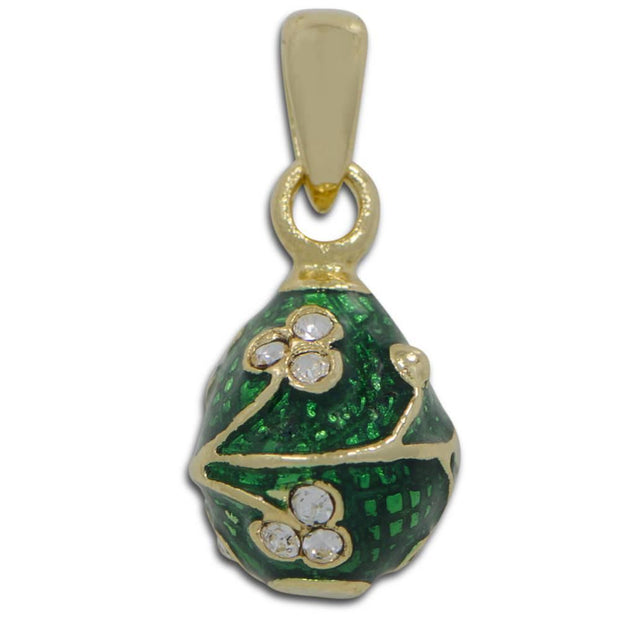 Green Clover Miniature Royal Egg Pendant by BestPysanky