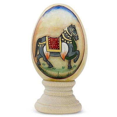 Royal Horse Marble Stone Easter Egg by BestPysanky
