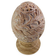 Buy Online Gift Shop Hand Carved Flowers Stone Easter Egg