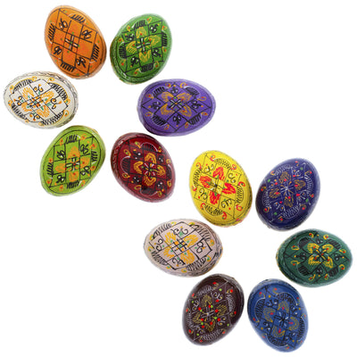 Set of 12 Pysanky - Wooden Ukrainian Easter Eggs by BestPysanky