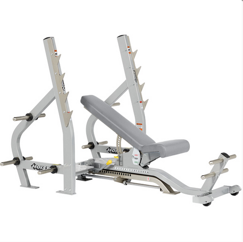 HOIST Commercial Freeweight CF-2179B 3-Way Olympic Bench