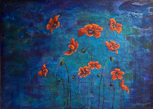 Poppies and Buds