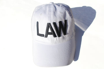 White LAW Dad cap