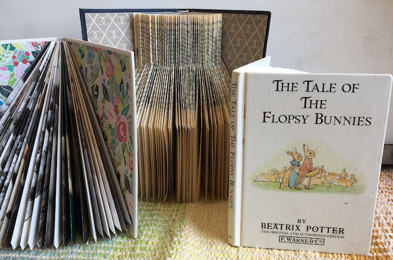 Folded books by Joyce Rosenfeld